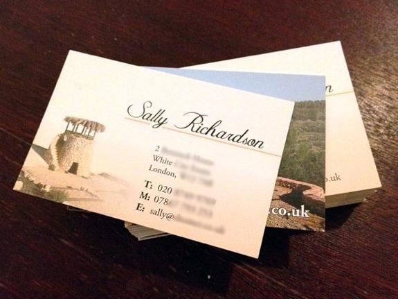 Christian business card design print